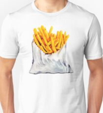 French Fries Pattern Unisex T-Shirt