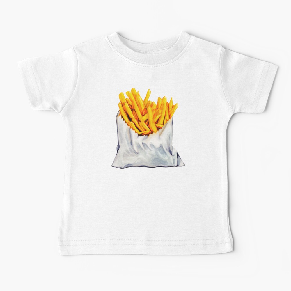 French Fries Pattern Baby T-Shirt
