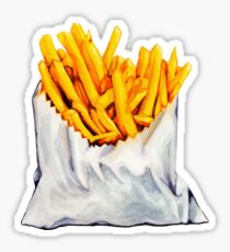 French Fries Pattern Sticker