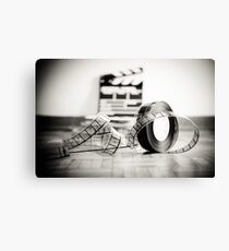 Clapperboard & Film Canvas Print