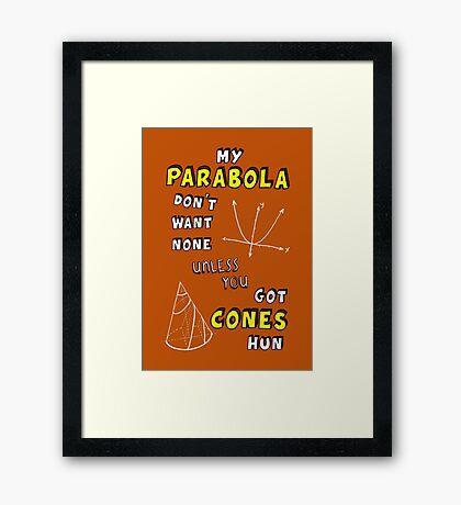 My Parabola Framed Print