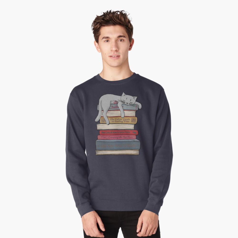 How to Chill Like a Cat Pullover Sweatshirt