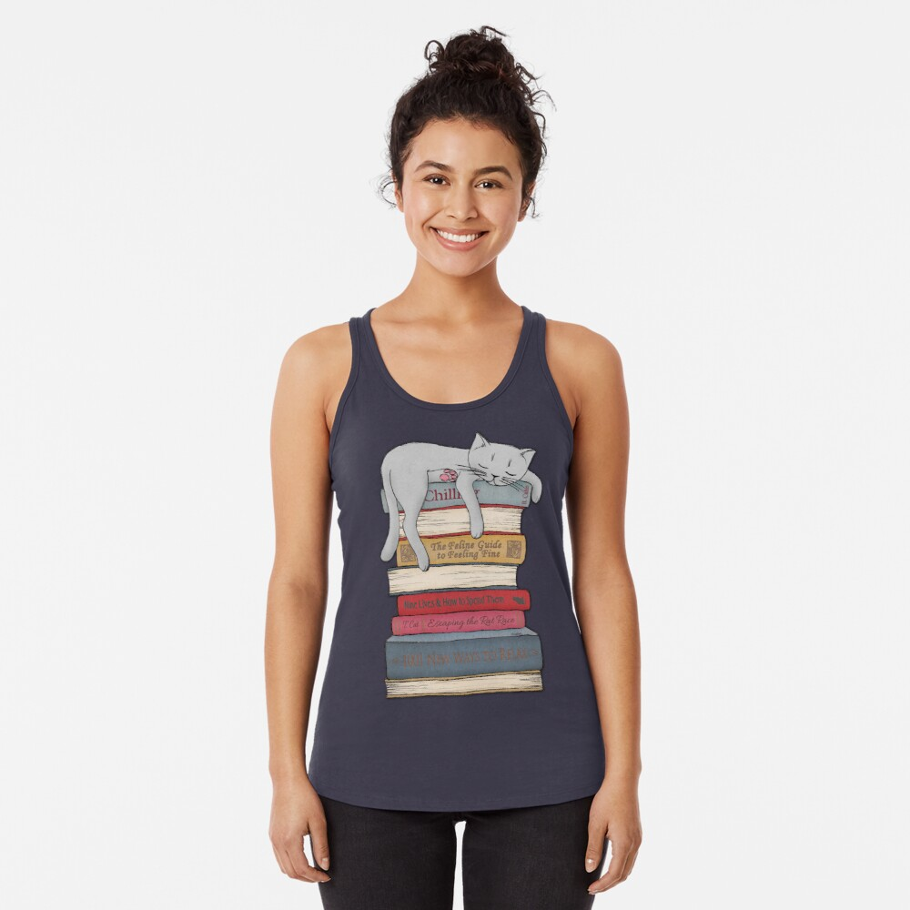 How to Chill Like a Cat Racerback Tank Top