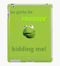 Froggin' Kidding Me iPad Case/Skin