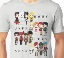 Chibi Team RWBY JNPR CFVY & SSSN Unisex T-Shirt