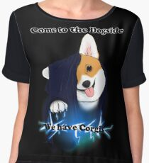 Come to the Dogside we have Corgis! Chiffon Top
