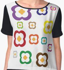 Floral Arrangement Women's Chiffon Top