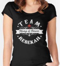 Team Rebekah. Women's Fitted Scoop T-Shirt