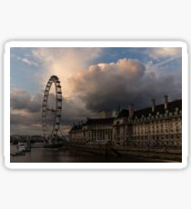 Sky Drama Around the London Eye Sticker