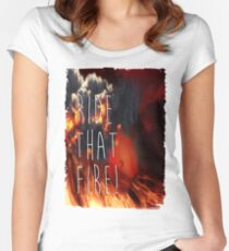 RIDE THAT FIRE Women's Fitted Scoop T-Shirt
