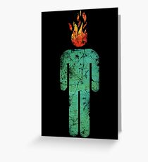 MAN ON FIRE (DISTRESSED) Greeting Card