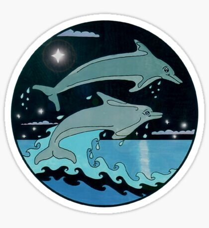 Dolphin`Leap for the Stars II' Tee Shirt Sticker