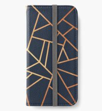 Copper and Midnight Navy iPhone Wallet/Case/Skin
