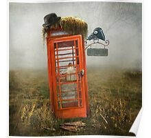 Phonebox Cottage Poster