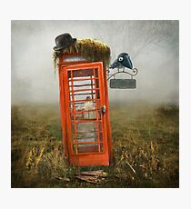 Phonebox Cottage Photographic Print