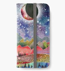 Camping under the moon iPhone Wallet/Case/Skin