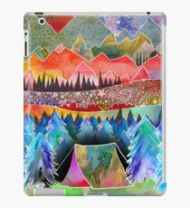 Camping under the moon iPad Case/Skin