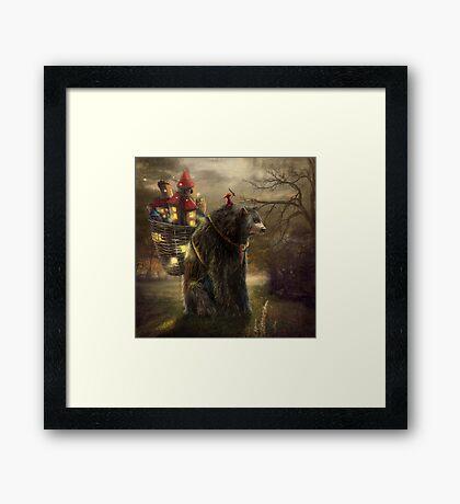 """""""A Bear Who Carried A Kingdom"""" Framed Print"""