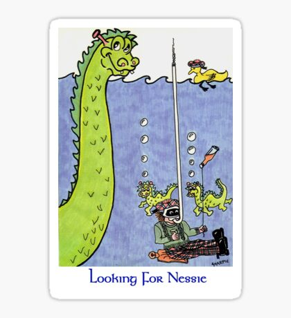 Looking for Nessie Sticker