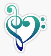 Love Music (Cool Colors) Sticker
