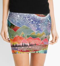 Camping under the moon Mini Skirt