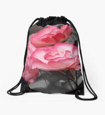 Two-tone Rose Drawstring Bag