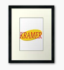 Kramer - Seinfeld Framed Print
