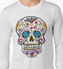 skull white Long Sleeve T-Shirt