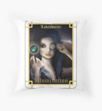 Gemstone Oracle Card - Illumination Throw Pillow