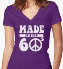 Made in the 1960's Women's Fitted V-Neck T-Shirt