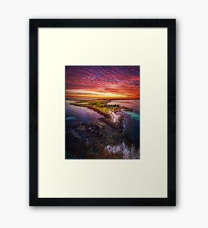Griffiths Island, Port Fairy Framed Print