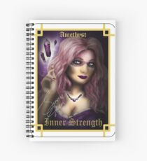 Gemstone Oracle Card - Inner Strength Spiral Notebook