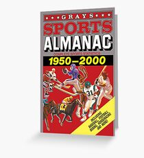 2000 greeting cards redbubble grays sports almanac complete sports statistics 1950 2000 greeting card m4hsunfo