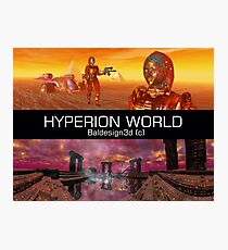 HYPERION WORLD SCIENCE FICTION Scifi Photographic Print