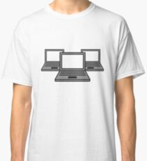 3 computer laptop notebook pc write screen mobile tablet lanparty Classic T-Shirt