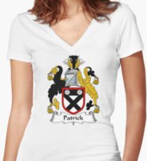 Patrick Coat of Arms / Patrick Family Crest Women's Fitted V-Neck T-Shirt