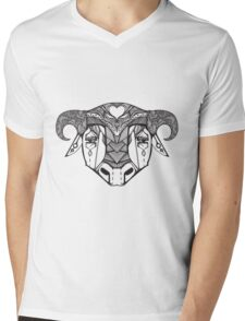 Authentic ethnic illustration with natural ornaments, animals Mens V-Neck T-Shirt