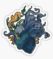 Heart - Ocean Sticker