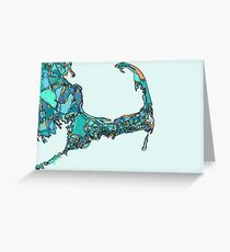 Abstract Map of Cape Cod Greeting Card