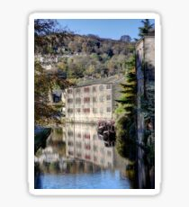 Canal Cottages, Hebden Bridge Sticker