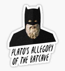Plato's Allegory of the Batcave Sticker
