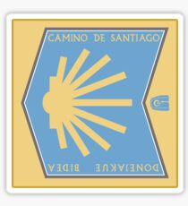 Camino de Santiago, Street Sign, Spain Sticker