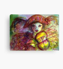 VENETIAN MASQUERADE / HARLEQUIN PLAYING VIOLIN  Canvas Print
