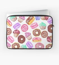 Yummy Hand Painted Watercolor Desserts  Laptop Sleeve
