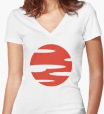 Samurai Champloo- Sunset Women's Fitted V-Neck T-Shirt