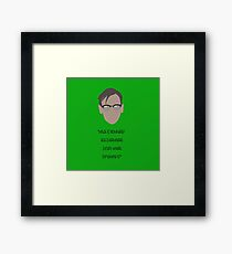 Gotham, Nygma, Quote Framed Print