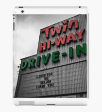 Drive-In Theater Selective Color II iPad Case/Skin