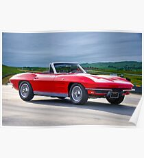 1964 Corvette C2 Convertible Poster