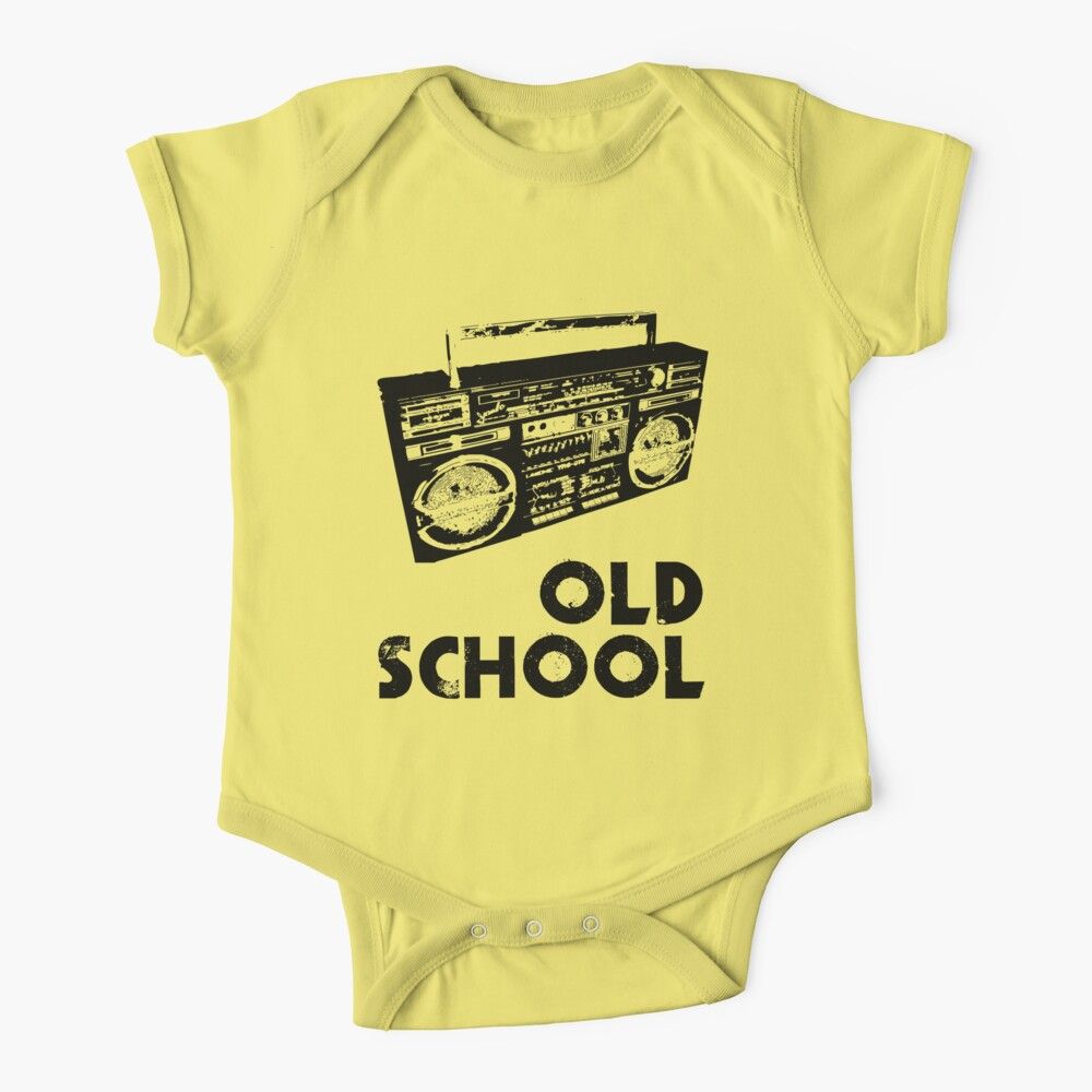 Old School - Boom Box  Baby One-Piece