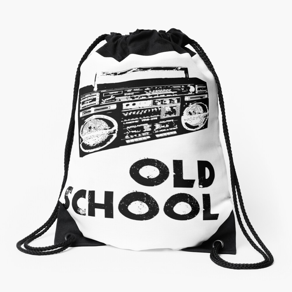 Old School - Boom Box  Drawstring Bag